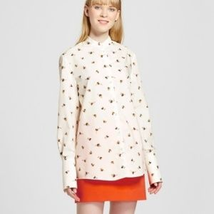 VICTORIA BECKHAM bee graphic print button down AV2